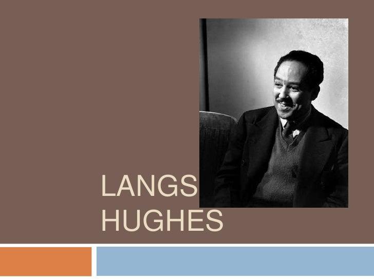 LANGSTON HUGHES<br />