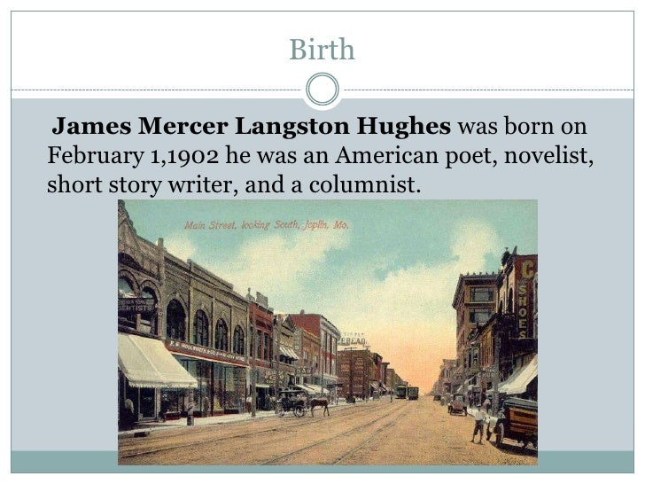 a brief overview of the james langston hughes an american poet