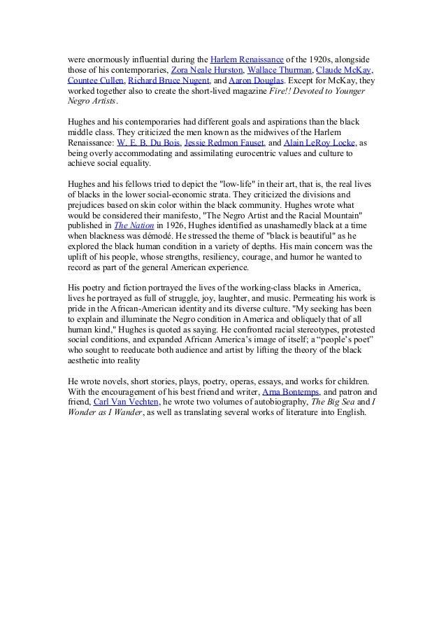essay on the poem harlem