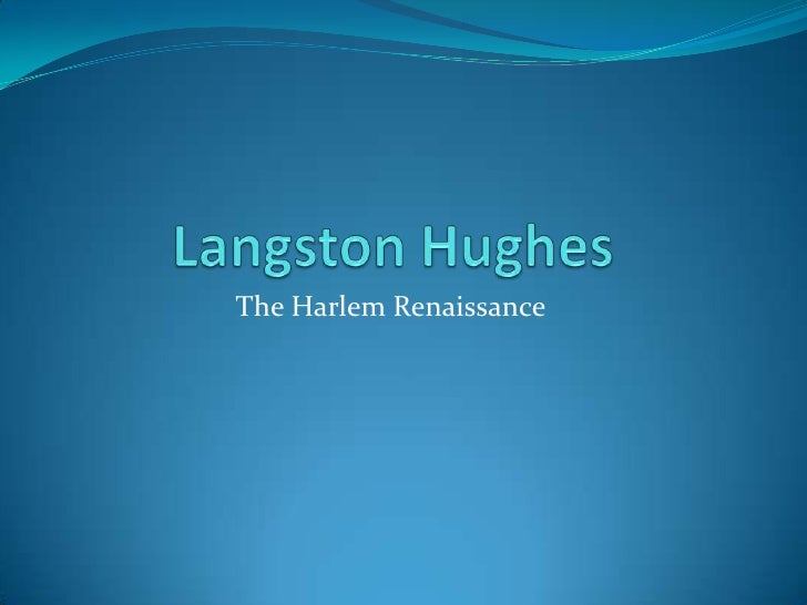 langston hughes thesis statements Get an answer for 'what is the thesis statement for thank you essay lab questions at enotes m'am by langston hughes.