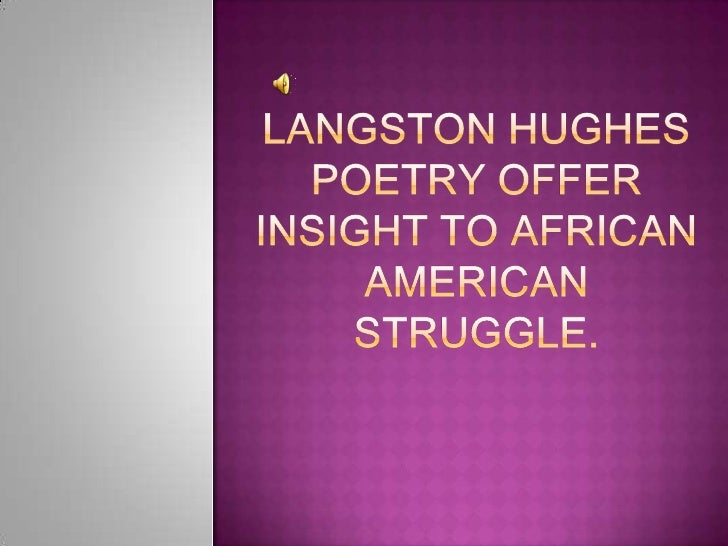 langston hughes poetry style In comparing langston hughes's poem to the poems we have read by claude mckay so far, it is very easy to see a huge difference in not only the style of writing but.