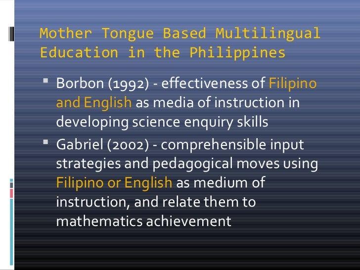 mother tongue based multilingual education