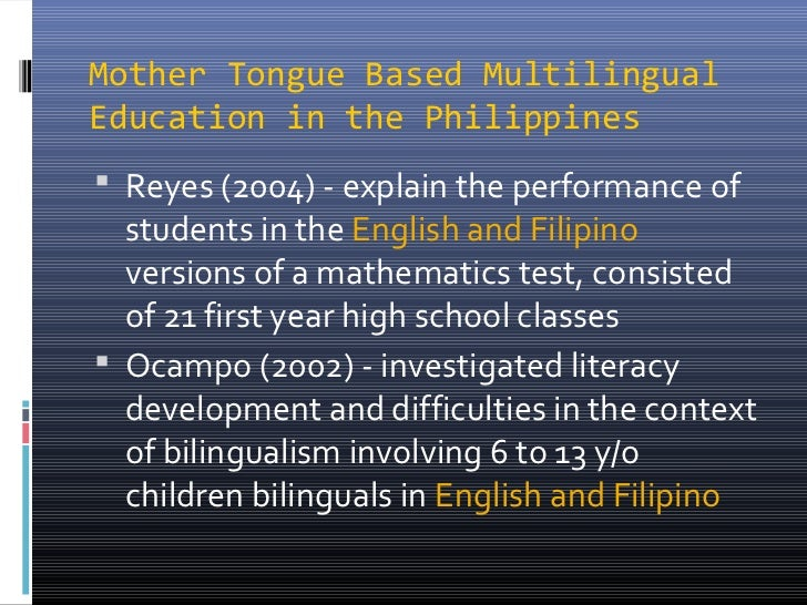 MTB-MLE in Philippine Education