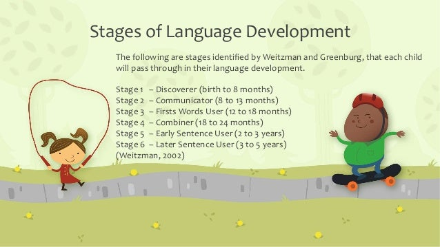 a discussion on language development in children With ongoing exposure to the phonology of their native language, children acquire a  this chapter begins with a discussion of the major language development.