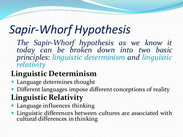 linguistic and cultural relativity