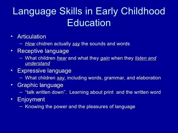 essay on language development Language development in children research papers discuss the four areas of child development education research and child development at paper masters.