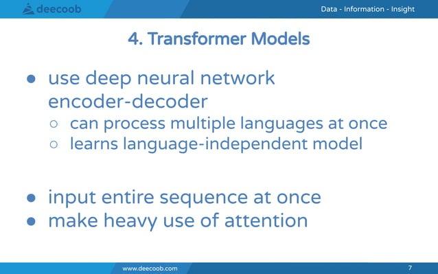 www.deecoob.com 7 Data - Information - InsightData - Information - Insight www.deecoob.com 7 ● use deep neural network enc...