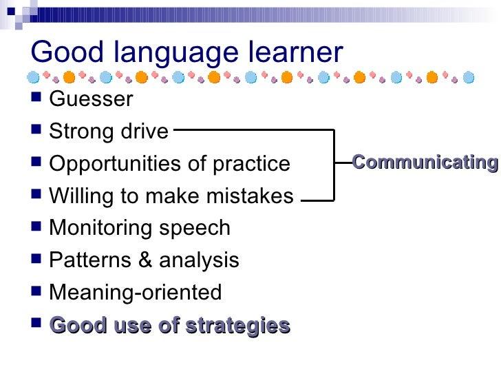 a good language learner