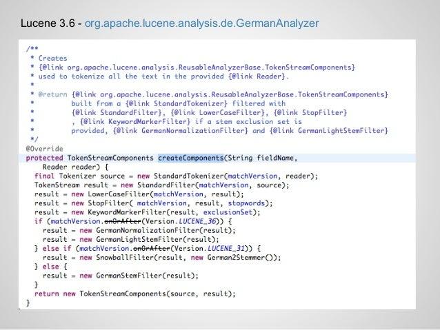 Lucene 3.6 - org.apache.lucene.analysis.de.GermanAnalyzer