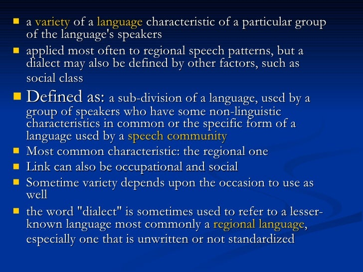 Language Variation Slide 3