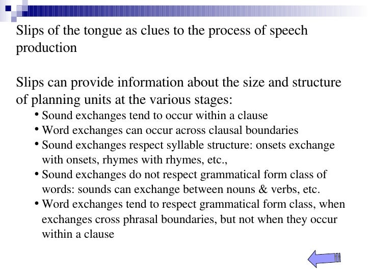 a slip of the tongue pdf