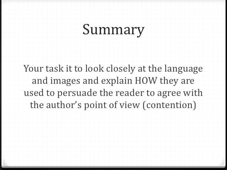 language analysis example article