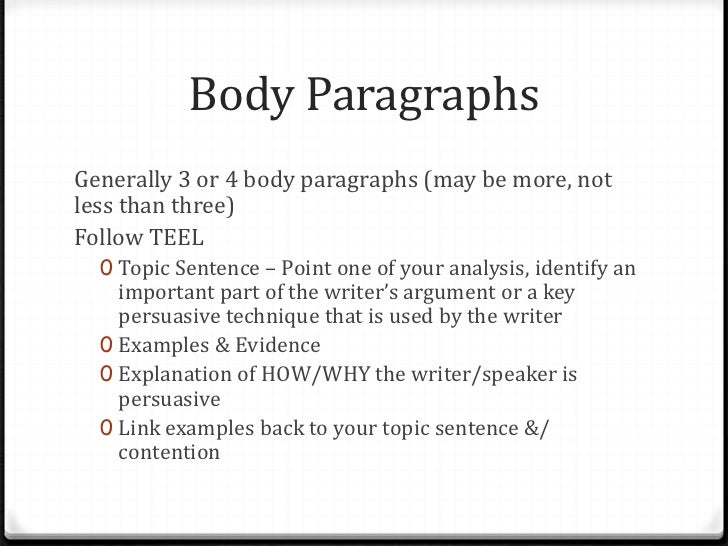 3 part essay structure