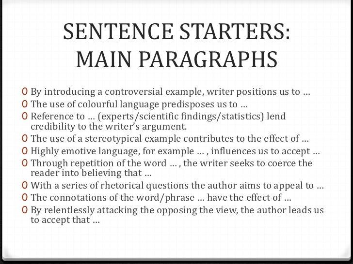 Language analysis essay