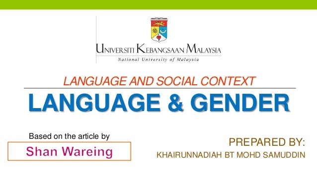 relationship between language and gender pdf