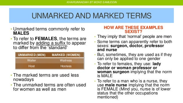 marked women unmarked men