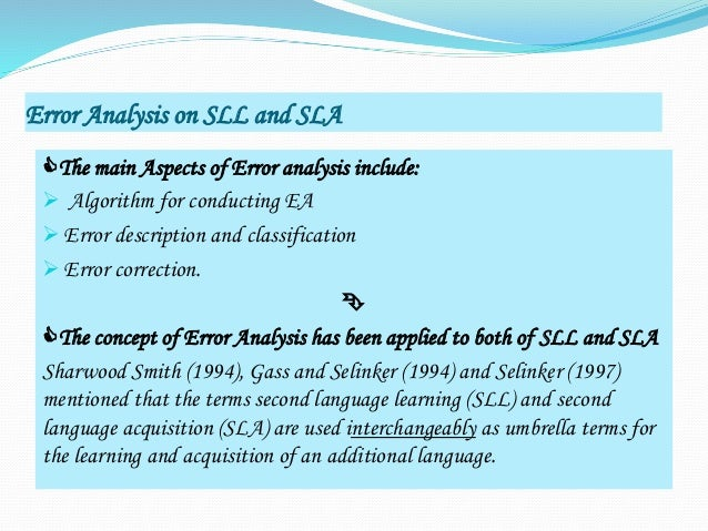 thesis error analysis applied linguistics A great selection of free linguistics dissertation topics and ideas to (2004) a role and reference grammar analysis phd thesis: changing linguistics and.