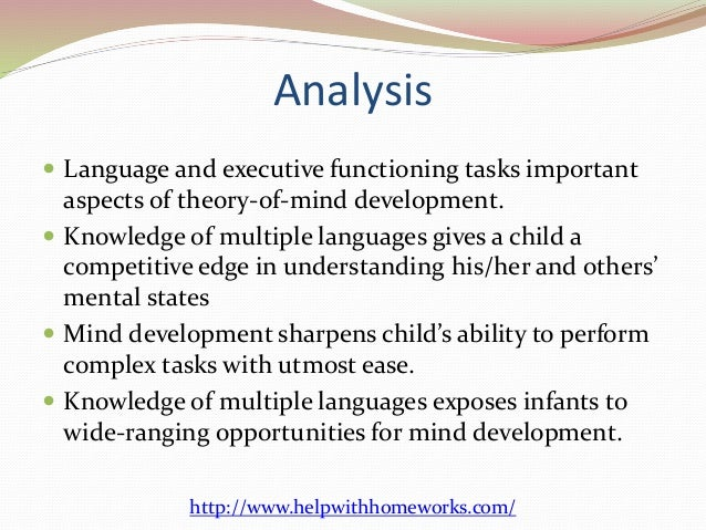 an analysis of the discussion of the concept of language development in young children In 2012, young children who had at least one parent whose home language was english were more likely to demonstrate school readiness skills than those who had no parents whose home language was english.