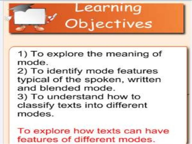 Applying mode features and lexical features to texts