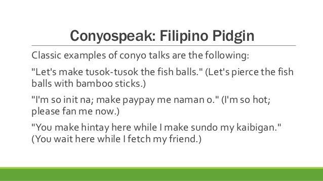 conyo talk