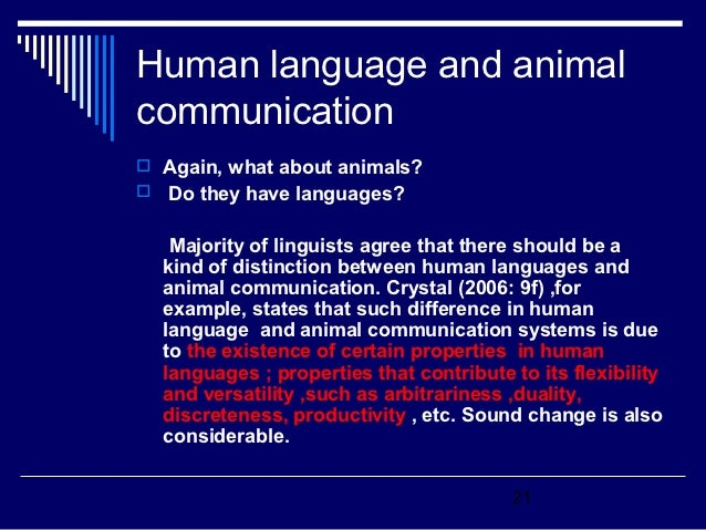 Differences between human and animal communication