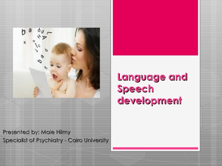 Language and                                              Speech                                              developmentP...