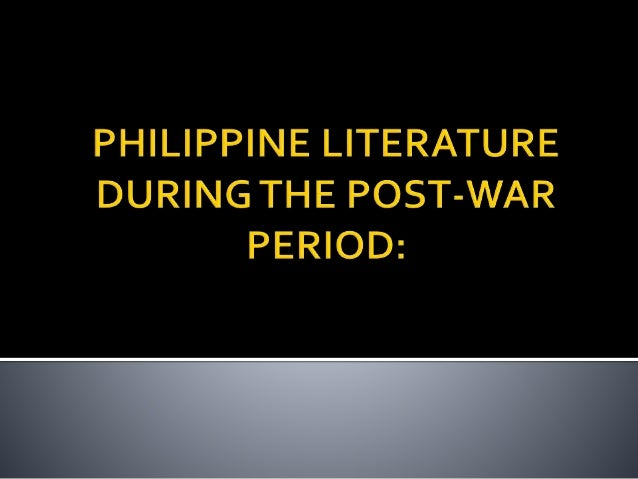 The evolution of philippine literature