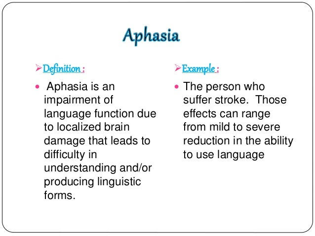 aphasia an impairment of language function Certain questions concerning aphasia, as well as the assumed localisations  sis a theory of functional impairment of language centres, in which he referred to .
