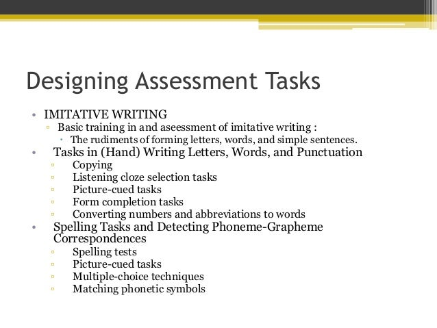 extensive writing assessment