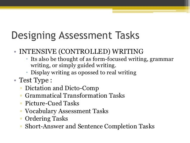 imitative writing assessments