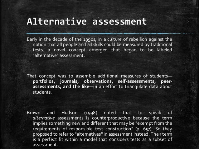 what is alternative assessment?