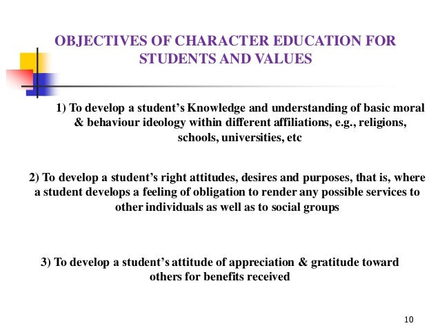 moral education essay importance of language and character education