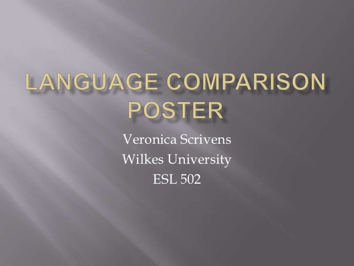 Veronica ScrivensWilkes University    ESL 502