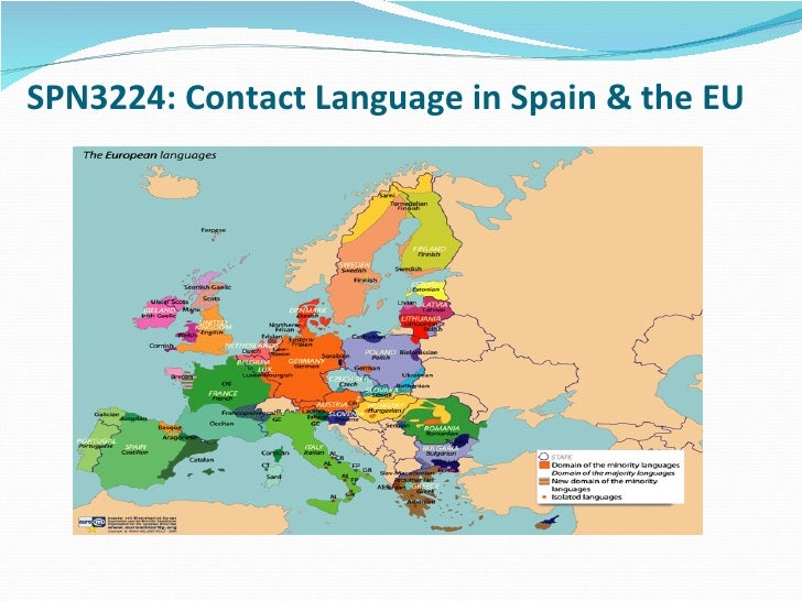 Languages In Spain Map.Language Contact In Spain Fall 2009