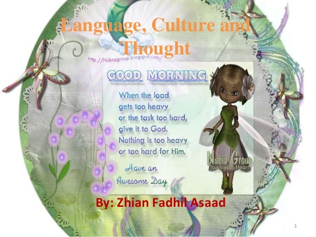 Language, Culture and Thought  By: Zhian Fadhil Asaad 1