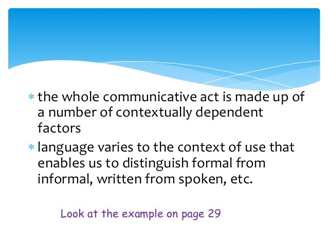 the concept of dialect as a division of language according to the linguistics Office of diversity and inclusion organization list partners staff directory   different language communities have certain ways of talking that set them apart  from others  the dictionary of linguistics defines dialect as a variety of a  language used by people from a particular geographic area  by elizabeth  malone.