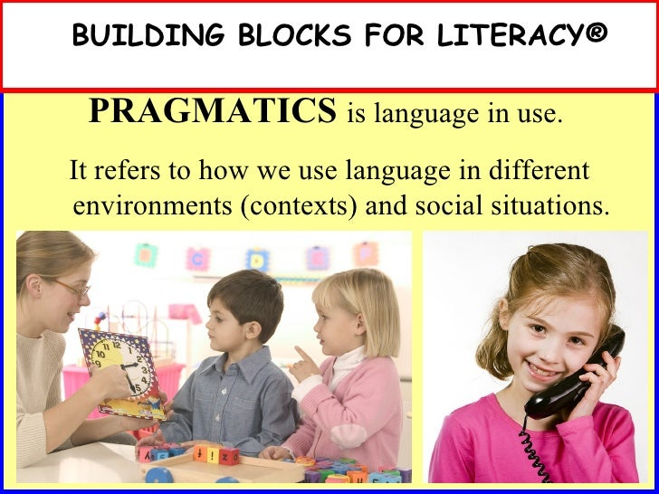 building blocks  research and language development