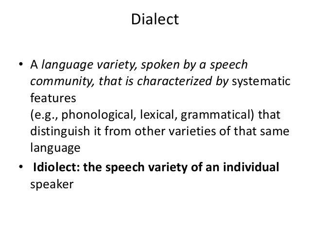 language varities