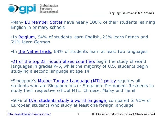 Language Education In US Schools - Top international languages in the world