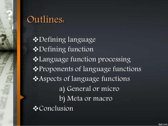 Language functions Slide 2
