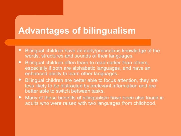 The Common Advantages and Disadvantages of Bilingual Education