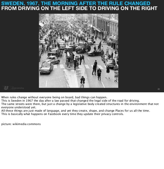SWEDEN, 1967, THE MORNING AFTER THE RULE CHANGED  FROM DRIVING ON THE LEFT SIDE TO DRIVING ON THE RIGHT  40  When rules ch...