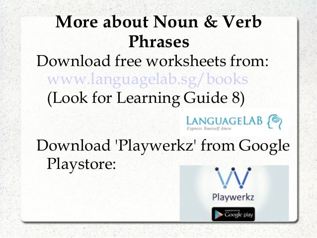 Languagelab 82 Noun and Verb Phrases – Verb Phrase Worksheet