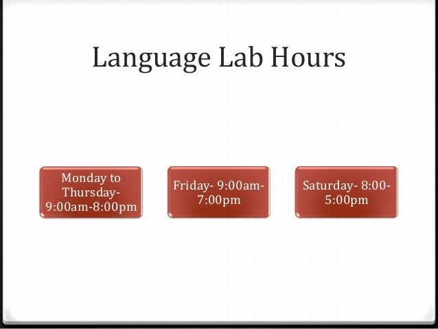 Language Lab Resources