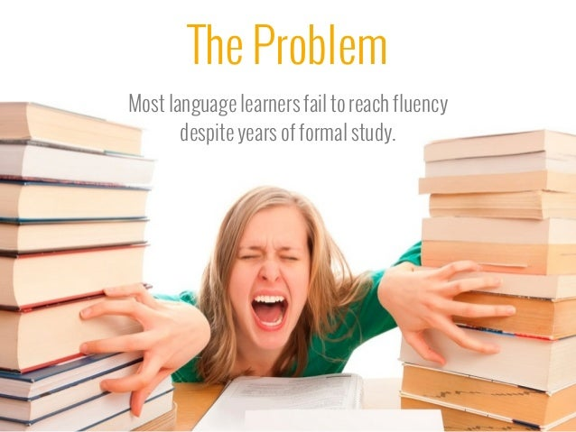 language as a problem in the Explains a method to overcome a language problem.