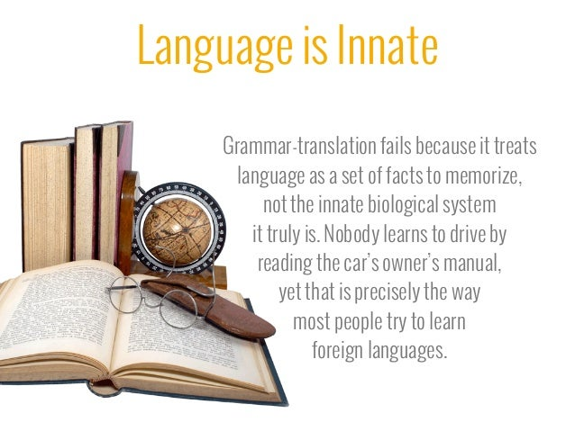 is language innate or learned psychology