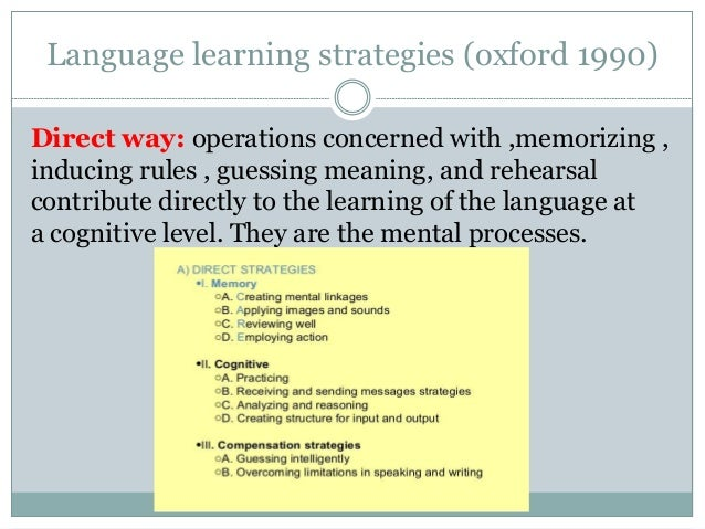 """thesis about language learning strategies The strategy inventory for language learning (sill) questionnaire was used to   students use all six types of language learning strategies more often than the  lower  unpublished master""""s thesis, mahidol university, bangkok, thailand."""
