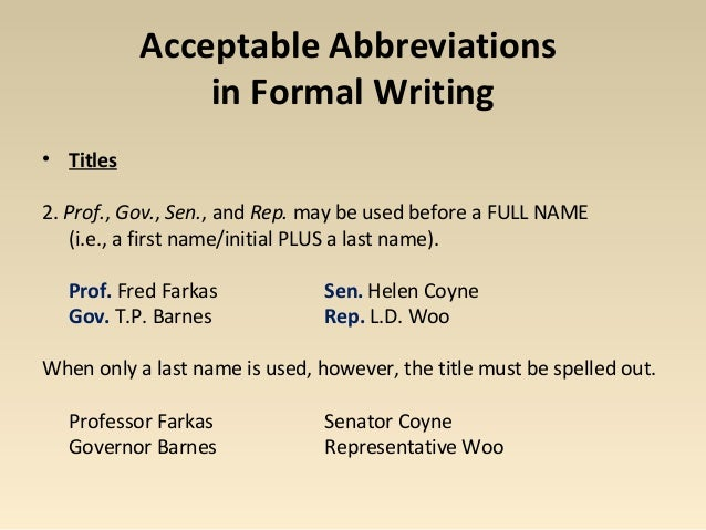 Abbreviations for the Air Force EPR