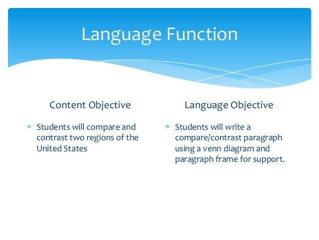 Language Objectives