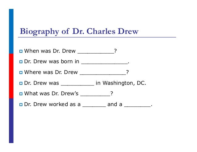 a biography of charles richard drew born in washington dc Mount vernon is located just 15 miles south of washington dc  changed from george washington to charles richard drew  biography of washington,.